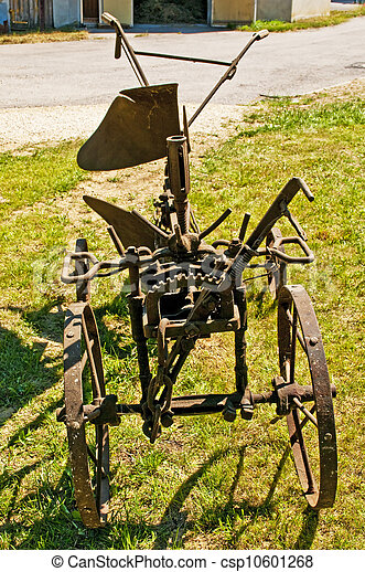 antique agriculture machine plough - csp10601268