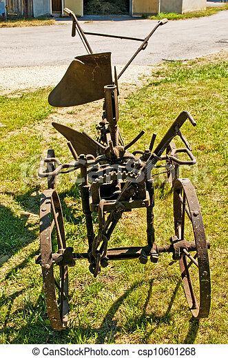 antique agriculture machine plough - csp10601268