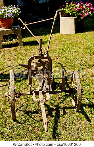 antique agriculture machine plough - csp10601300