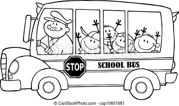 Funny bus cartoon