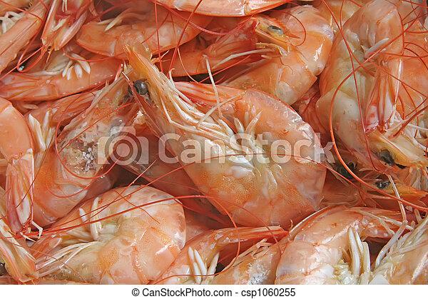Prawns seafood freshly baked - csp1060255