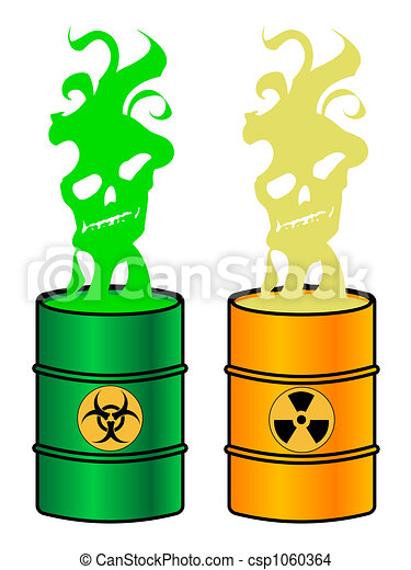 Drawing of Toxic barrels, illustration csp1060364 - Search ...