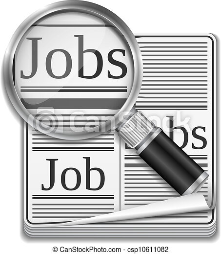 Vector Of Job Search Concept Vector Eps10 Illustration