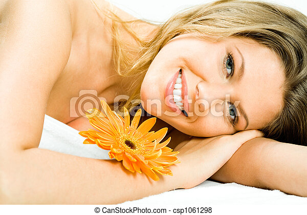 女, 幸せ - csp1061298