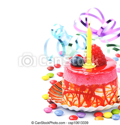Colorful birthday cake - csp10613339