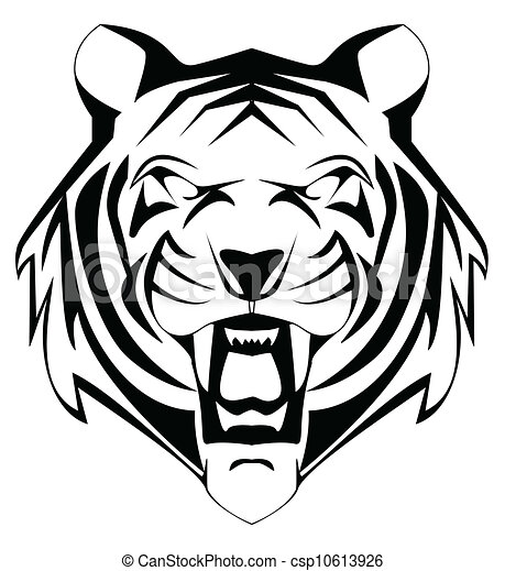 Vector Illustration of tiger mascot csp10613926 - Search Clipart ...