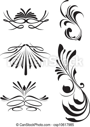 Vector Of Calligraphy Lines Calligraphic Lines Dividers
