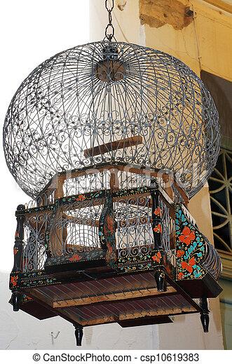 cage d'oiseaux, décoré - csp10619383