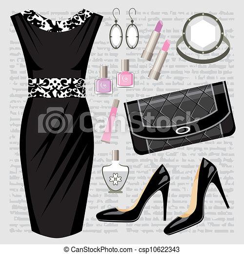 Fashion set with a dress - csp10622343