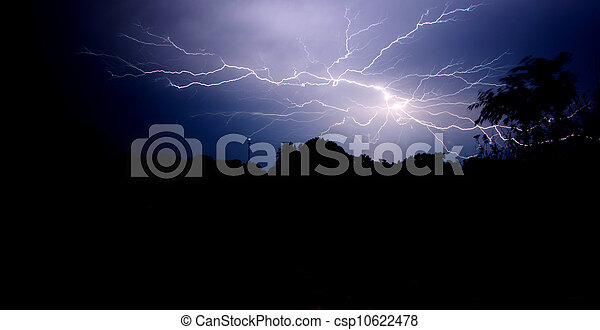 Lightning in the night sky - csp10622478