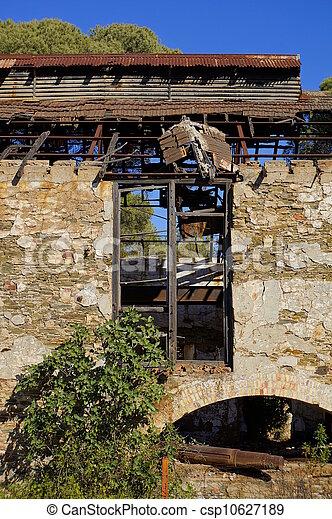 mining area, facade with windows - csp10627189