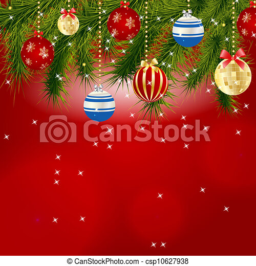 Abstract beauty Christmas and New Year background. Vector illustration - csp10627938