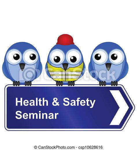 Health And Safety Seminar Sign Vector Illustration ...