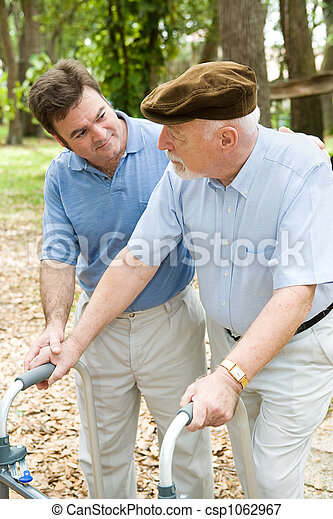 Caring For Dad - csp1062967
