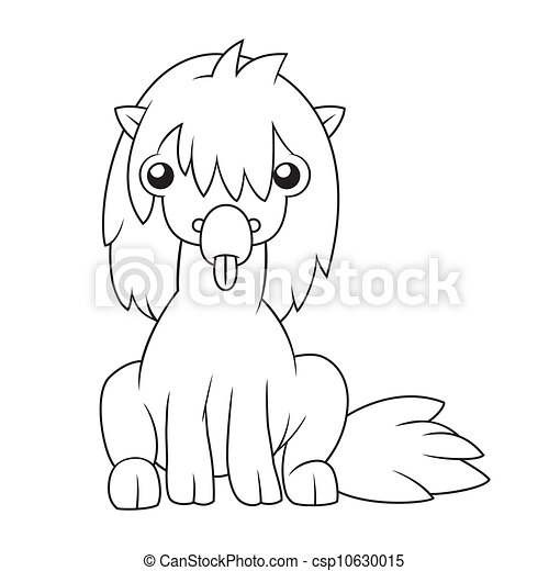 Horse Sitting Drawing Cartoon Horse Sitting on The
