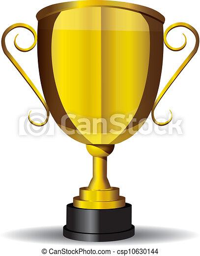 Gold Cup,trophy,vector - csp10630144