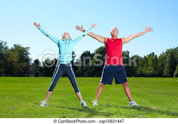Fitness couple. - csp10631447