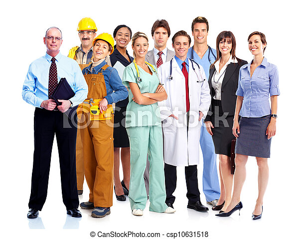Group of industrial workers. - csp10631518