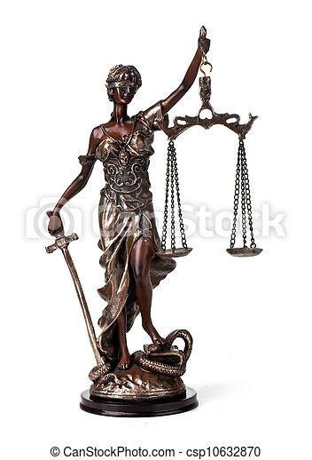 Antique Statue of justice - csp10632870