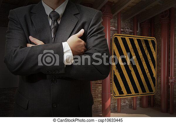 Industrial, trabalhador, negócio - csp10633445