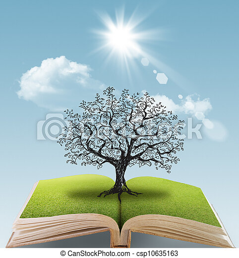 open book of the big tree - csp10635163