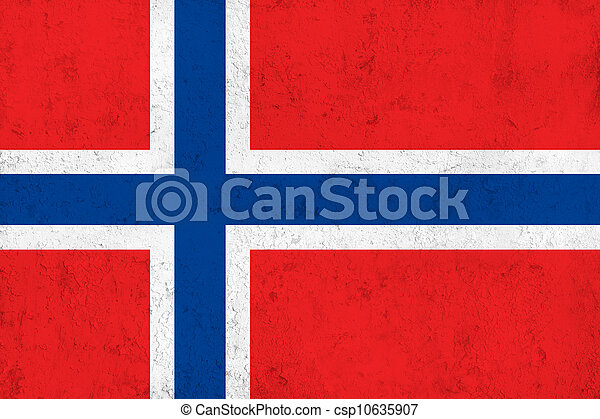 Grunge Dirty and Weathered Norwegian Flag - csp10635907