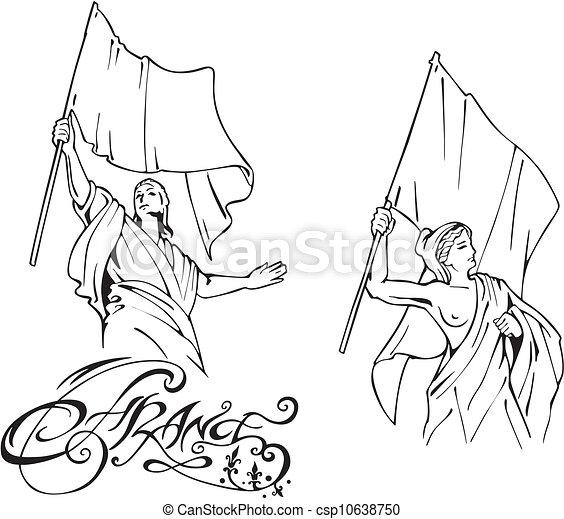 Vecteur clipart de drapeaux francais marianne french - Dessin marianne ...