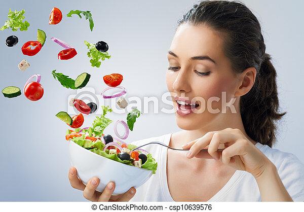 eating healthy food - csp10639576