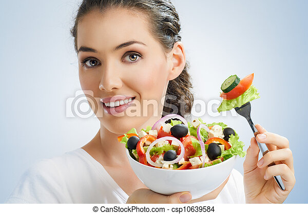 eating healthy food - csp10639584