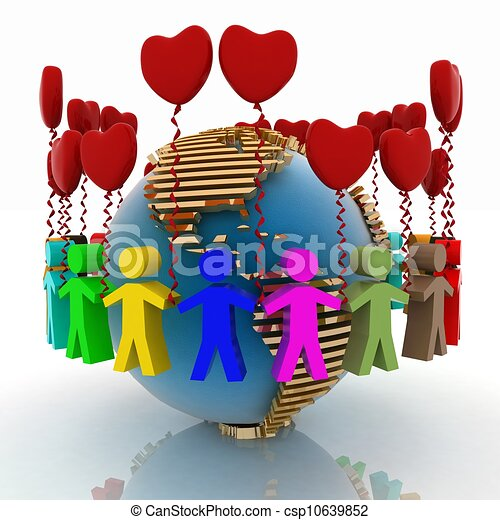 conception of love and friendship in the whole world - csp10639852