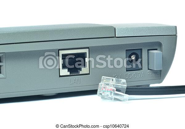 LAN, conexión, rúter - csp10640724