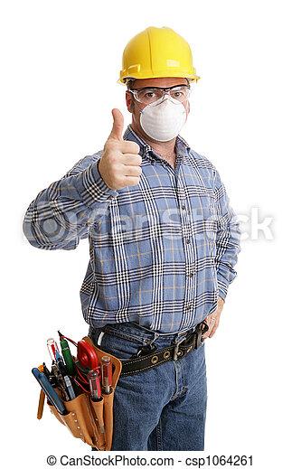 segurança, construção,  thumbsup - csp1064261