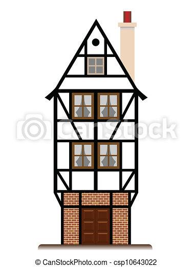 Illustrazioni vettoriali di tradizionale casa cottage for Piani casa cottage shotgun