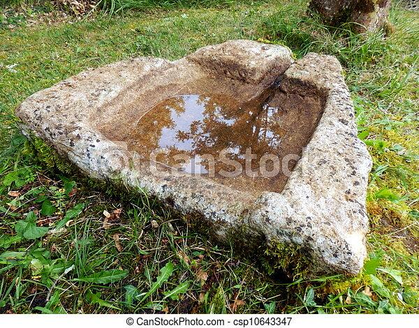 Stock de fotos de piedra antiguo fregadero franc s - Fregaderos de piedra antiguos ...