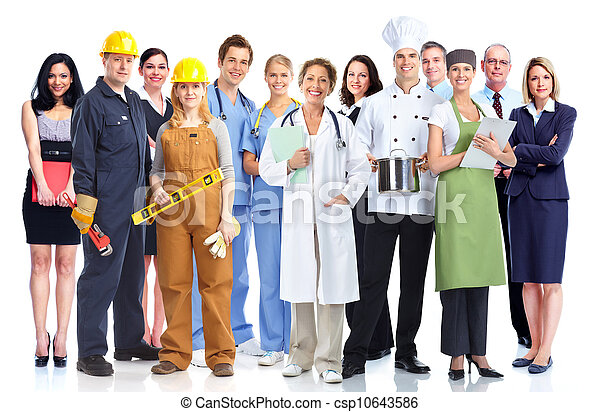 Group of industrial workers. - csp10643586