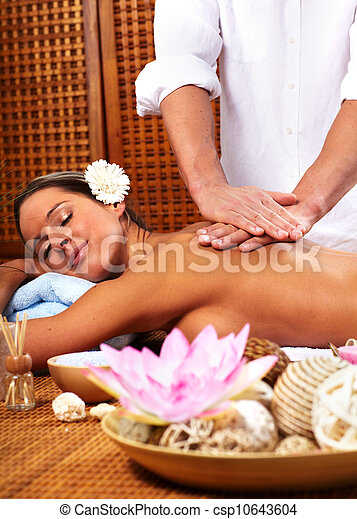 Young woman in Spa massage salon. - csp10643604