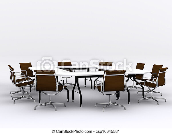 Conference table and chairs in meeting room - csp10645581
