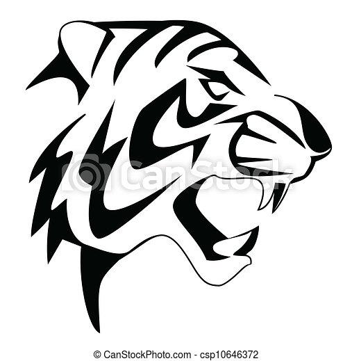 Tigre cabeza pintura Imagenes Stock Photo. 290 Tigre cabeza ...