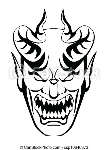Skull And Bones Coloring Pages moreover Goat Face Drawing besides  likewise 37 as well 44346845. on scary demon clip art