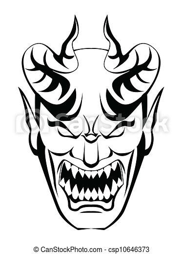 Vectors Illustration of devil head csp10646373 - Search ...