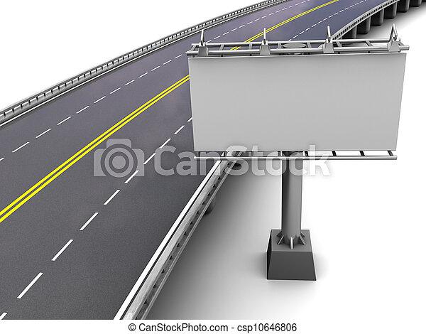 photographies de autoroute panneau affichage autoroute vide panneau csp10646806. Black Bedroom Furniture Sets. Home Design Ideas