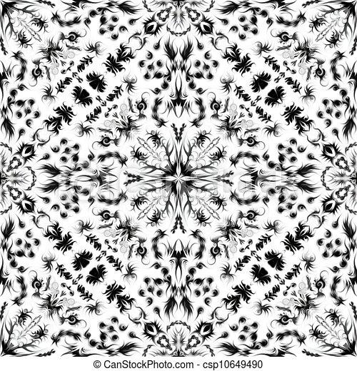 Illustration de blanc carrelage noir texture noir et blanc seamless csp10649490 - Carreau ciment noir et blanc ...