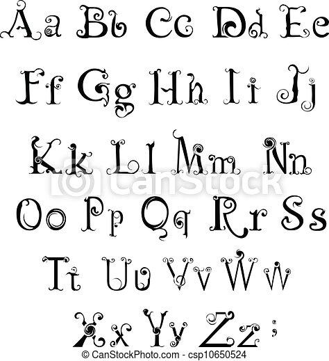 Gothic alphabet - csp10650524