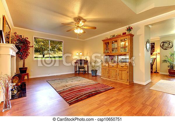 Stock de fotos grande vida habitaci n madera dura piso for Cuarto piso pelicula
