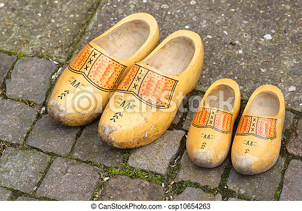 Stock Photo - traditional Dutch wooden shoes - stock image, images