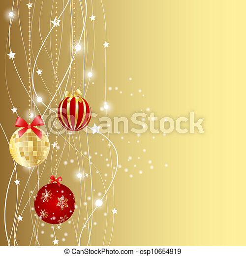 Abstract christmas red background vector illustration - csp10654919