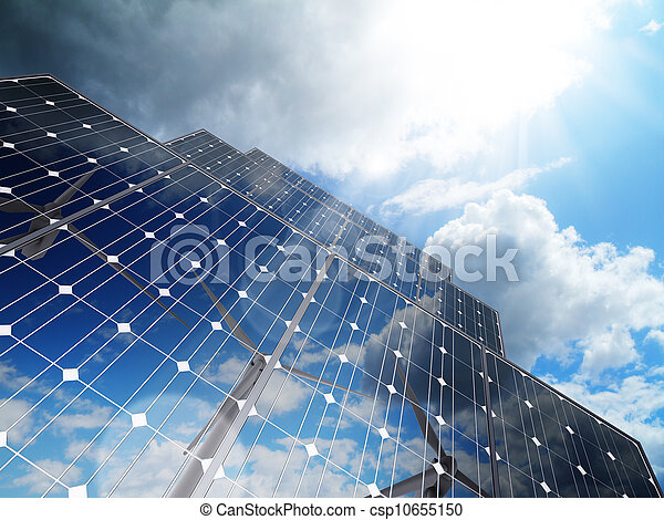 Renewable, alternative solar energy,green business - csp10655150