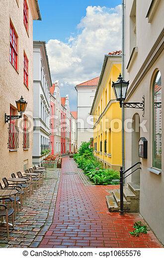 Narrow Riga street - csp10655576