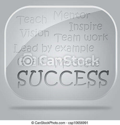 success flow chart in glass bubbles - csp10656991