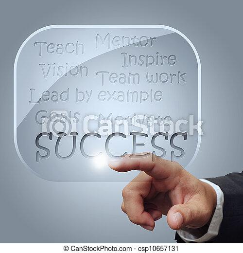 success flow chart in glass bubbles - csp10657131